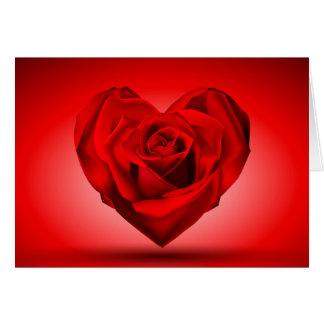 Die Rosen-Herz des Valentines Karte