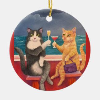 Die Röstenkatzen Keramik Ornament
