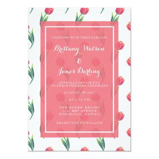 Die rote Tulpe-elegante Hochzeits-Einladungs-Karte Karte
