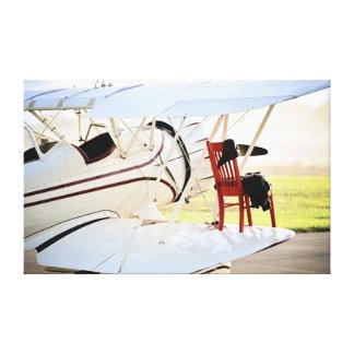 Die roten Stuhl-Reisen Leinwand Druck