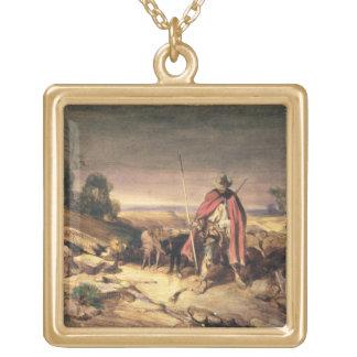 Die Rückkehr des Schäfers (Stift u. braune Tinte, Halskette Mit Quadratischem Anhänger