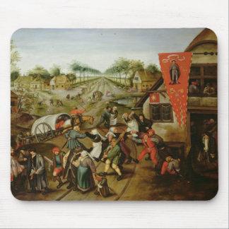 Die Rückkehr vom Kermesse (Öl auf Platte) Mauspads