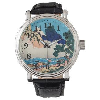 Die Rückseite des Fujis Uhren