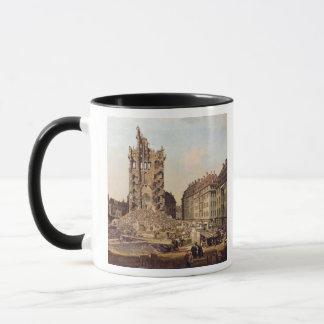 Die Ruinen des alten Kreuzkirche, Dresden Tasse