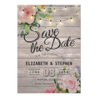 Die rustikalen hölzernen Wedding 12,7 X 17,8 Cm Einladungskarte