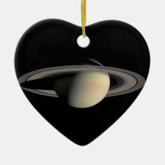 Die Saturn-Planet NASA Keramik Herz-Ornament