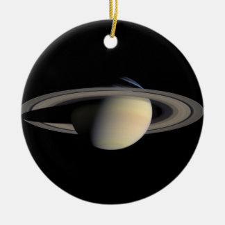 Die Saturn-Planet NASA Rundes Keramik Ornament