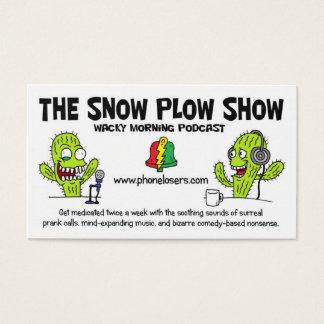 Die Schnee-Pflug-Showbusiness-Karten Visitenkarten
