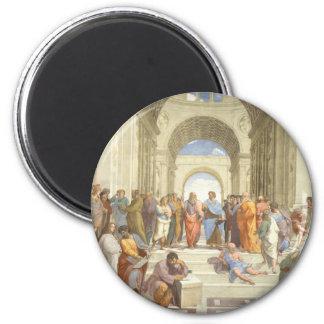 Die Schule von Athen Runder Magnet 5,7 Cm