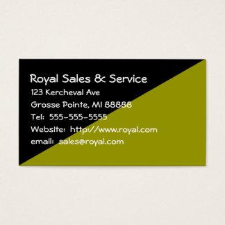 Die schwarze und grüne Visitenkarte der Frau