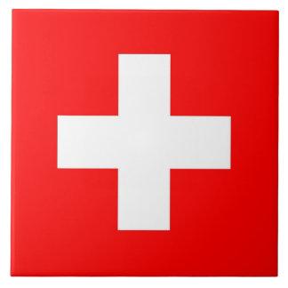 Die Schweiz-Flaggen-Fliese Fliese