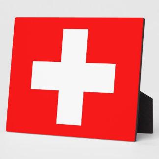 Die Schweiz-Flaggen-Plakette Fotoplatte