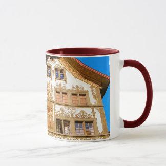 Die Schweiz, gemaltes Haus Tasse