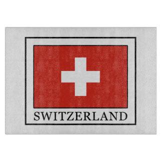 Die Schweiz Schneidebrett