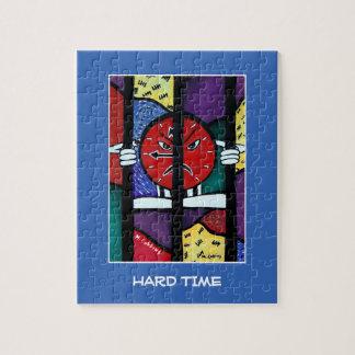 Die schwere Zeit auf Blau - Zeit-Stücke Puzzle