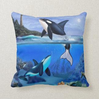 Die Schwertwal-Familie Kissen