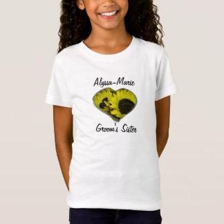 """Die Schwester-"""" - gelbes Sonnenblume-Herz """"des T-Shirt"""