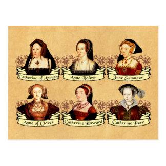 Die sechs Ehefrauen von Klassiker Henrys VIII Postkarte