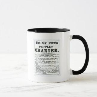 Die sechs Punkte der Charter der Leute Tasse