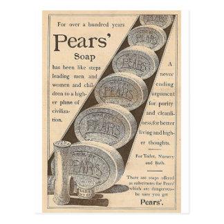 Die Seife der Birnen Postkarte