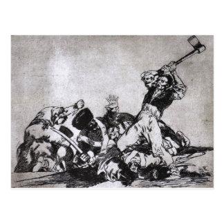 Die selben durch Francisco Goya Postkarte