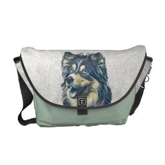 Die Shetlandinseln-Schäferhund-Malerei-Bote-Tasche Kurier Tasche