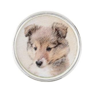 Die Shetlandinseln-Schäferhund-Welpe Anstecknadel