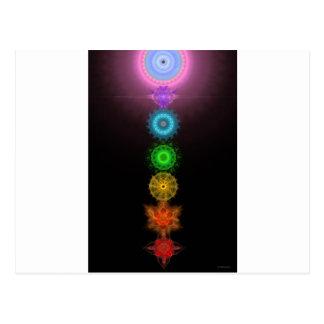 Die sieben Chakras Postkarte