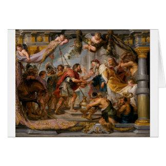 Die Sitzung von Abraham und Melchizedek Rubens von Grußkarte