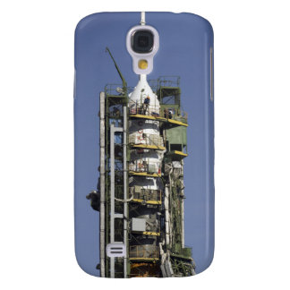 Die Soyuz Rakete wird in Position aufgerichtet Galaxy S4 Hülle