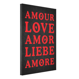 Die Sprache der Liebe - tba Leinwand Drucke