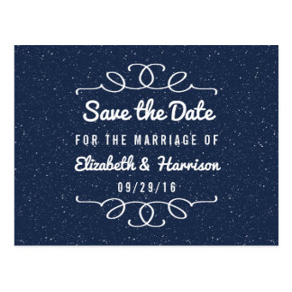Die Starry Nacht, die Save the Date Wedding ist Postkarte