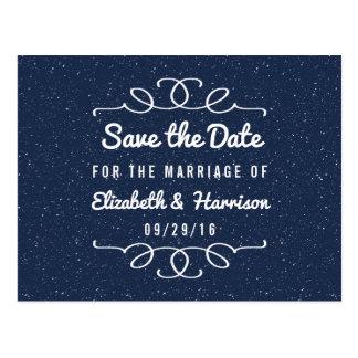 Die Starry Nacht, die Save the Date Wedding ist Postkarten