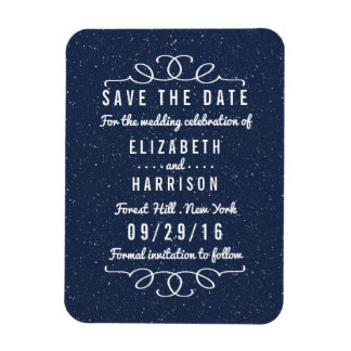 Die Starry Nacht, die Save the Date Wedding ist Vinyl Magnete