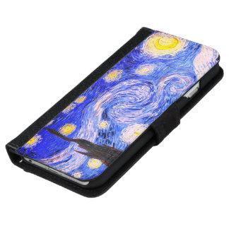 Die sternenklare Nacht durch Van Gogh Geldbeutel Hülle Für Das iPhone 6/6s