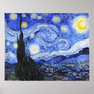 Die sternenklare Nacht Van Gogh Poster