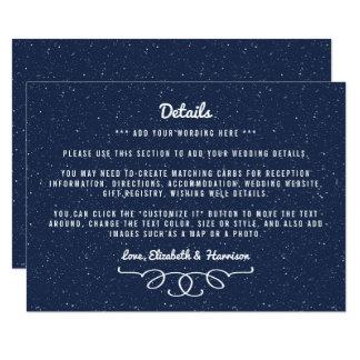 Die sternenklare Nachthochzeits-Sammlung - Detail 11,4 X 15,9 Cm Einladungskarte