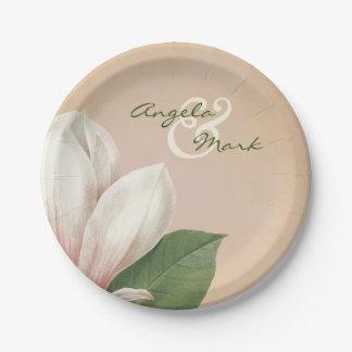 Die südliche Magnolien-Blume, die   Antike Wedding Pappteller
