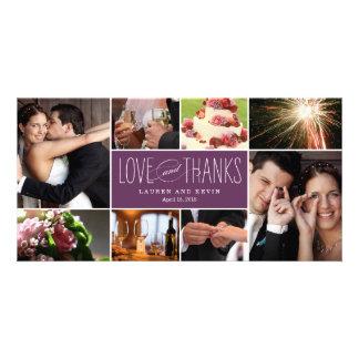 Die süßen Wedding Erinnerungen danken Ihnen Fotogrußkarten