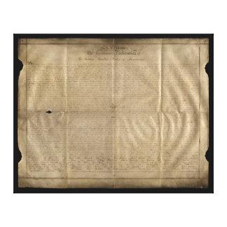 Die Sussex-Unabhängigkeitserklärung (C. 1780) Leinwanddrucke