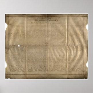 Die Sussex-Unabhängigkeitserklärung (C. 1780) Poster