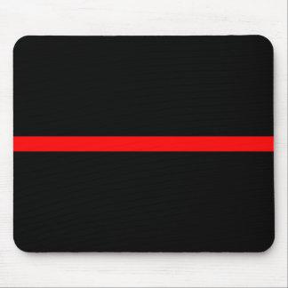 Die symbolische dünne rote Linie Dekor Mousepad