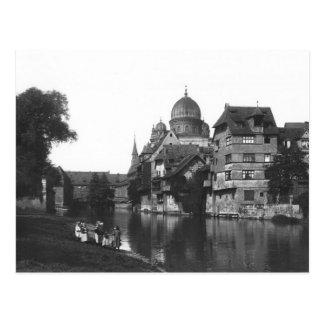 Die Synagoge in Nürnberg, c.1910 Postkarte