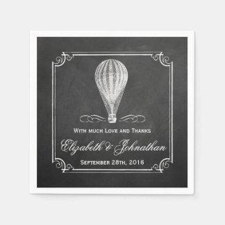 Die Tafel-Heißluft-Ballon-Hochzeits-Sammlung Papierserviette