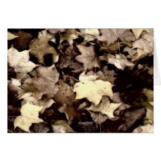Die Tapisserie des Herbstes Karte
