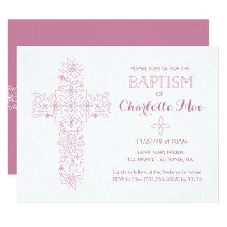 Die Taufe des Babys, Taufeinladungs-Karte 10,8 X 14 Cm Einladungskarte