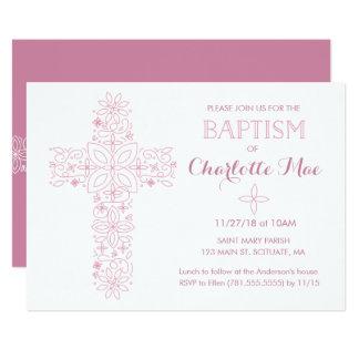 Die Taufe des Babys, Taufeinladungs-Karte 12,7 X 17,8 Cm Einladungskarte
