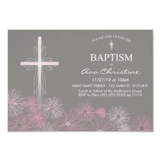 Die Taufe-Einladung des Babys mit Kreuz, Karte