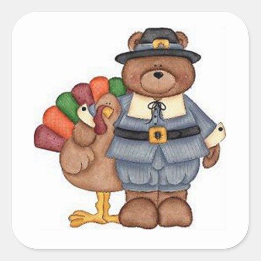 Die Teddybär-Pilger und Türkei Quadrataufkleber
