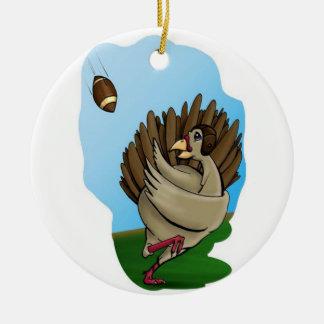 Die Türkei-Fußball Rundes Keramik Ornament